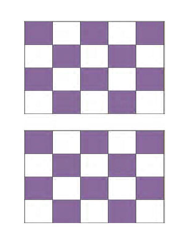 Small Purple Checkerboard